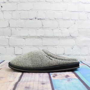 LL Bean Slide Slippers Gray Heather Size 10